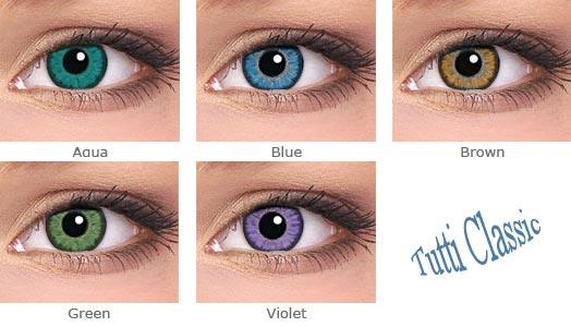 Цветные контактные линзы Tutti Classic цена Киев