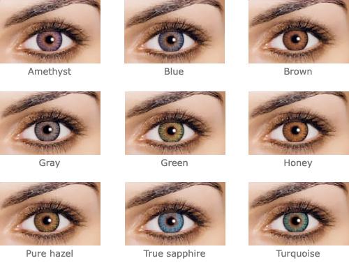 цветные контактные линзы для темных глаз